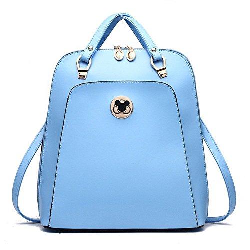 qckj Fashion Croce Corpo Borsa a tracolla donna in PU Zaino Blu