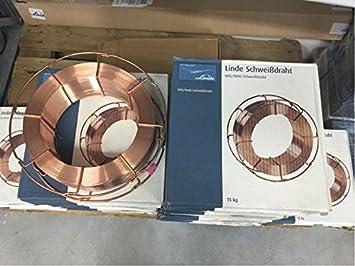 SG2 G3Si1 0,8 mm; 15 kg K300 Bobina; alambre de soldadura; Mig/Mag: Amazon.es: Bricolaje y herramientas