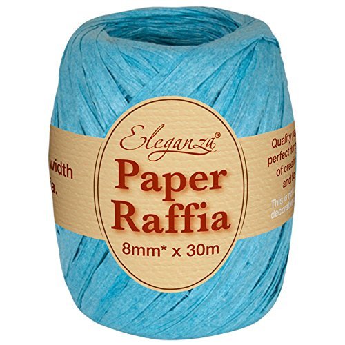 Eleganza 8 mm x 30 m Paper Raffia for Variety of Craft Projects and Gift Wrapping, No.55 Turquoise Oaktree UK 630062