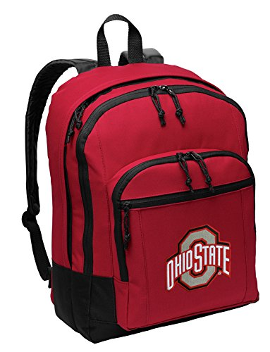 Ohio State University Backpack MEDIUM CLASSIC Style With Laptop Sleeve - Ohio State Backpack