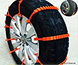 zip ties for car tires - 2nd Generation Easy Universal Fit Emergency Anti-Skid Mud Snow Survival Traction Multi-function Car Tire Chains for Pickup SUV Car Van ATV Jeep Honda Toyota Nissan VW Ford Mercede Benz BMW HTATMT Tyre