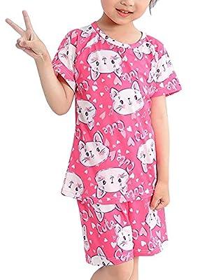 LLIOFUS Little Boys&Girls Stylish 2ps 100% Soft Cotton Cartoon Pajamas sets-003