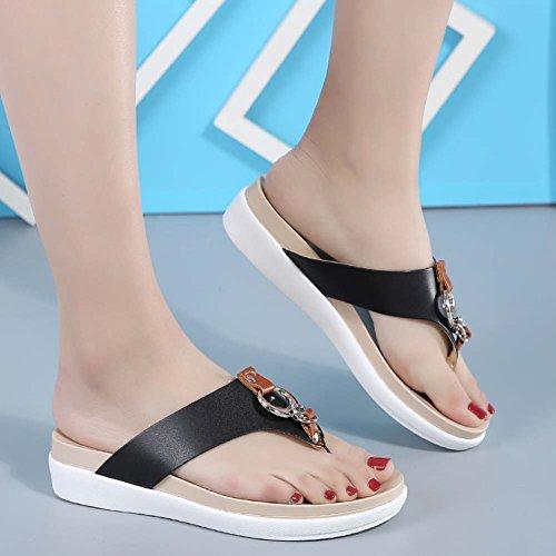 Sandalias Con Abierta De Plataforma Mujer Punta Para Black rqnr7x4OZw