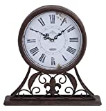Deco 79 Metal Table Clock, 13 by 13-Inch