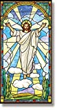 Stained Glass Resin Christ Canvas Worship Easter Banner, 5 Foot