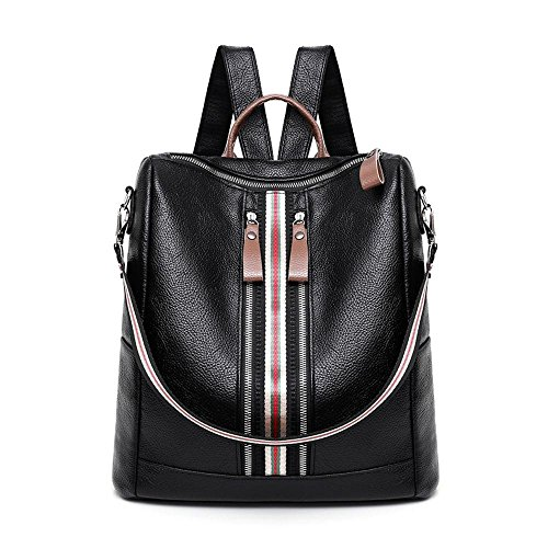 dee403f55c98 Women Anti-Theft Backpack Purse PU Leather Fashion Travel Casual Detachable  Covertible Ladies Shoulder Bag