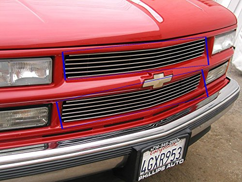 2 Pieces 1994-1998 CHEVY SILVERADO UPPER BILLET GRILLE