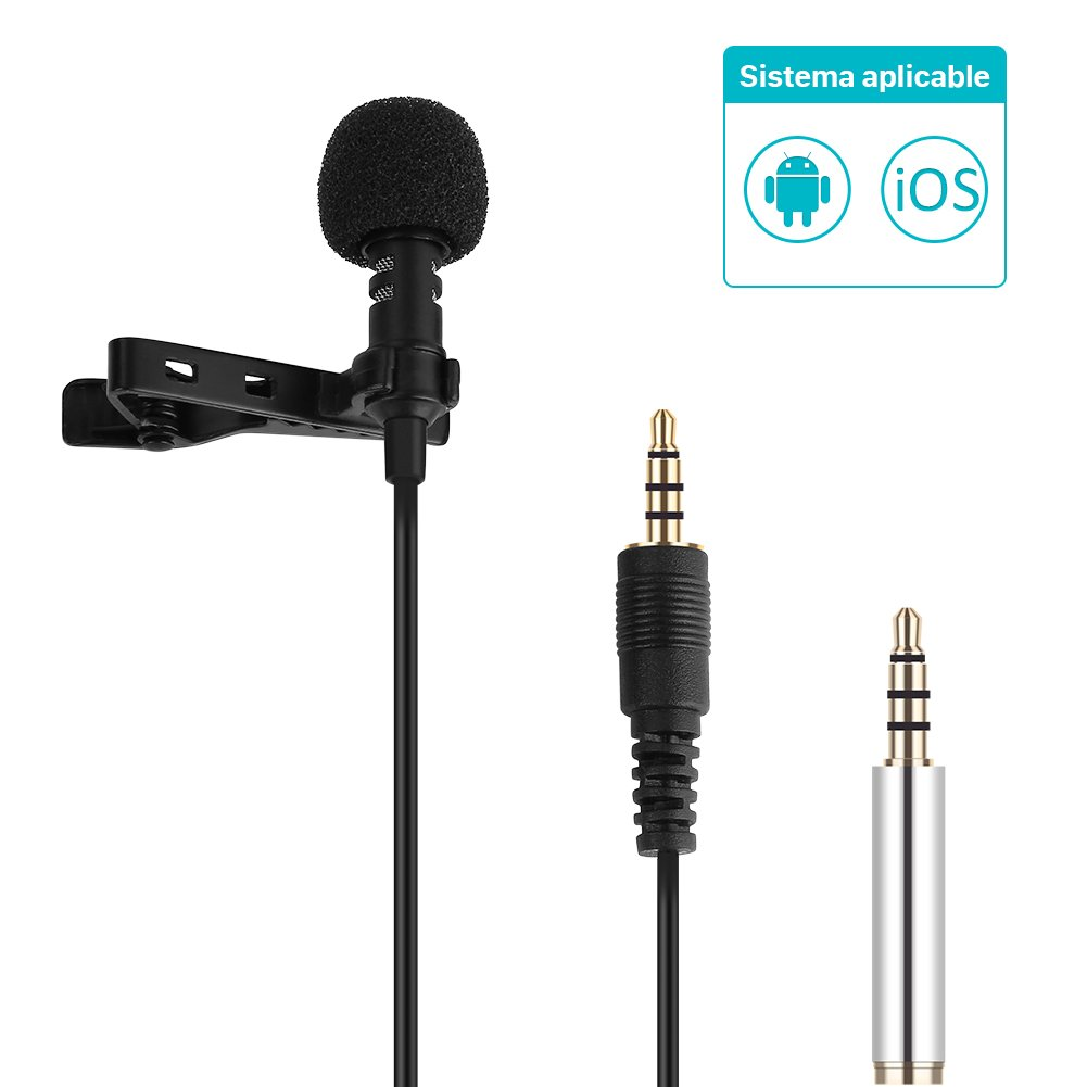 GHB GHB Mini Micrófono de condensador Omnidireccional Micrófonos Externos para Smartphone Apple