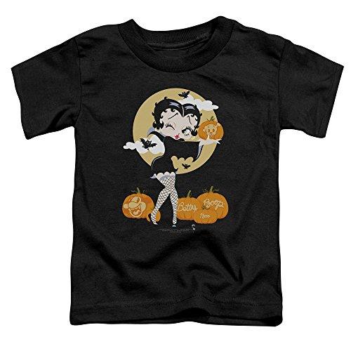 Betty Boop Halloween Cartoons (Betty Boop 30's Cartoon Betty Boo Halloween Little Boys Toddler T-Shirt)