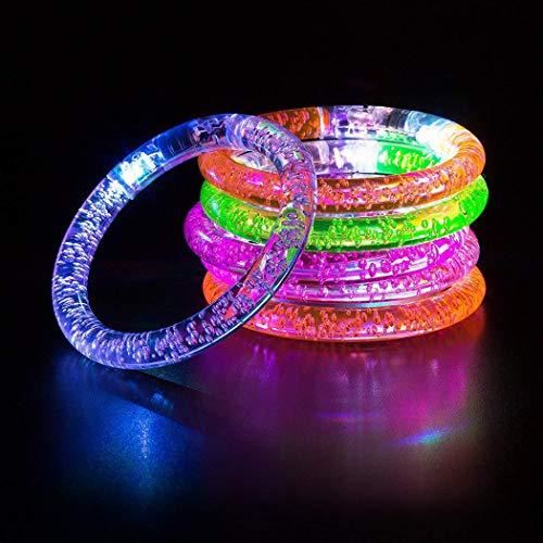 IEnkidu Reusable LED Flash Light Up Bracelet Flashing Wristband Party Club Party Favors 1 pcs