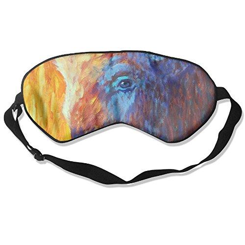 (Sleep Mask Bison Eye Cover Blackout Eye Masks,Soothing Puffy Eyes,Dark Circles,Stress,Breathable Blindfold)