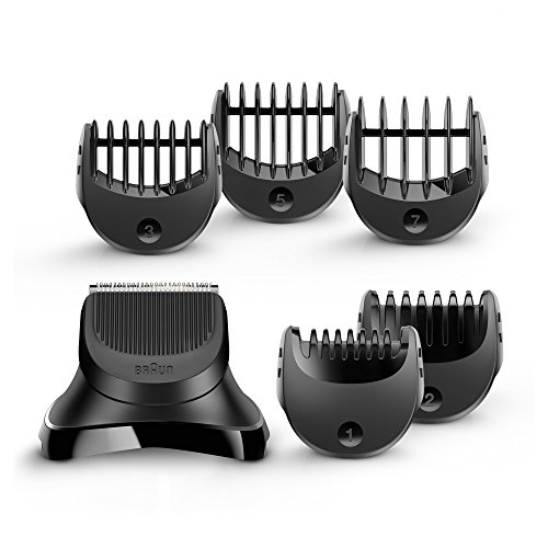 Braun BT32 Trimmer Head for Beards, with 5 Combs for Precision Trimming (Beard Trimmer Accessories)