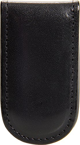 Bosca Mens Old Leather - Bosca Old Leather Magnetic Money Clip - Black