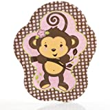 Pink Monkey Girl - Baby Shower or Birthday Party Dinner Plates (8 count)