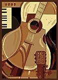 United Weavers Legends Area Rug 910-02930 Guitar Music, Rectangle, Black