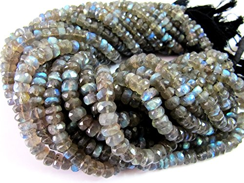 - Blue Fire Labradorite Rondelle Faceted Beads Very Good Quality 6 to 7 mm, Good Transparency and Luster,13 inch Strand-Wholesale and Bulk Price