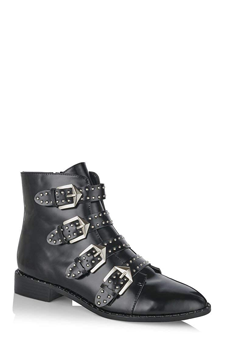84f1b38d391 Amazon.com | Long Tall Sally Tall Womens LTS Storm Studded Ankle ...