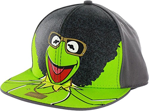Concept One Accessories The Muppets Afro Kermit Adjustable Baseball Cap -
