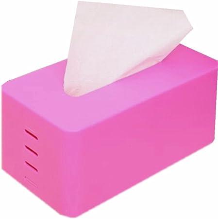 21cm*11cm *9cm Laat Scatola Porta fazzoletti Rettangolare in plastica Supporto dispenser Rangement Tissue Scatola Stile semplice Plastica Rose