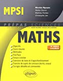 Mathématiques MPSI - 4e édition actualisée