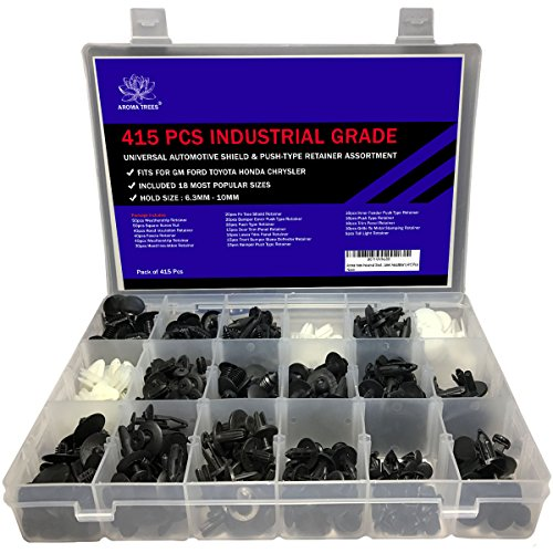 Ford Push Type Retainer - Aroma trees 415 Pcs Industrial Grade Universal Automotive Shield and Push-Type Retainer Assortment Suitable for Toyota, Honda, GM, Ford, and Chrysler