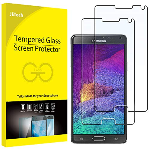 JETech 2-Pack Screen Protector for Samsung Galaxy Note 4, Tempered Glass Film