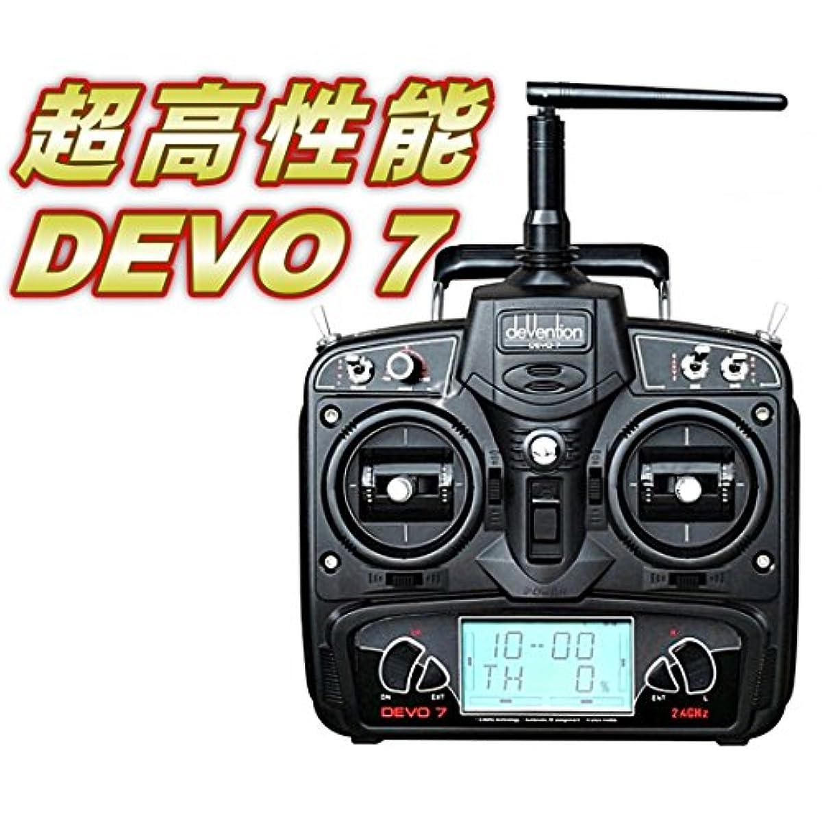 [해외] 라디오 컨트롤 헬리콥터 WALKERA DEVO7송신기2.4GHZ (MODE2)(DEVO-7-M2) ORI RC 【기술적전파법 일본 국내 인증 완료/일본어 설명서부】