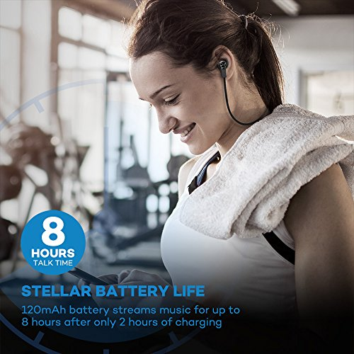 Bluetooth Headphones, VAVA MOOV 28 Wireless Sports Earphones in Ear Earbuds with 8 Hours Playtime (IPX5 Splashproof, aptX Stereo, Magnetic Aluminum Design, Noise Cancelling Mic)