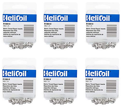 Heli-Coil R10848 M8X1.25 Inserts (6) by Heli-Coil (Image #1)