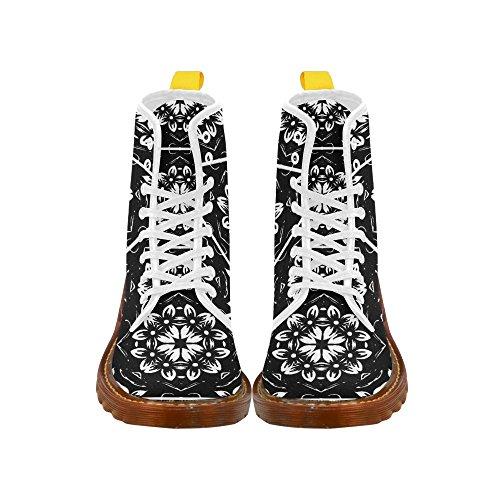 Leinterest Caleidoscopio Flor Martin Botas Zapatos De Moda Para Mujer