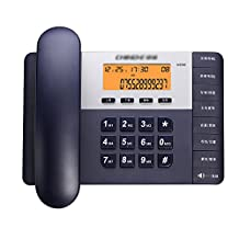 Home Wired Fixed-top Telephone Office Business Fashion Fixed Landline Caller ID Family Number (Three Colors Optional) (Color : Blue)