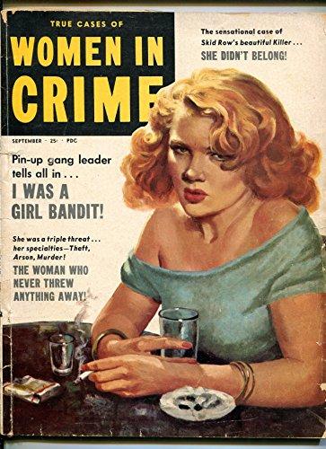 Mag Mat - Women in Crime 9/1953-Special Mags-girl gangs-Good Girl art-Mata Hari-VG