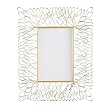 Ashley Furniture Signature Design - Ogdon Petal Ribbon Metal Wall Mirror - Vertical or Horizontal - Contemporary - Antique Gold Finish