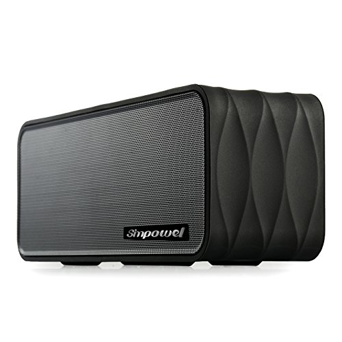Bluetooth Speaker With FM By Simpowel | Portable Wireless Speaker System With Radio Micro SD Mp3 Player And NFC - Black
