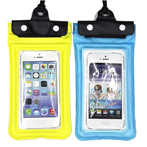 Waterproof Phone Pouch – Floatable Waterproof Cellphone Case Dry Dag for Phone X 8 7 Plus 6S 6 Plus, Samsung Galaxy S9 Plus S8 Note 8, Google Pixel 2 HTC LG Moto Huawei BLU up to 6.0″ – 2 Pack Review
