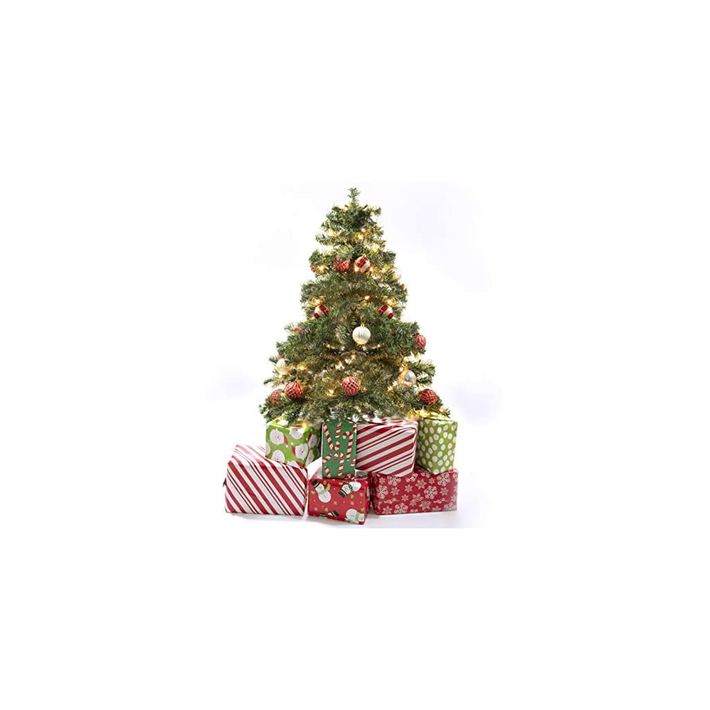 Prextex-4-Feet-Premium-Hinged-Artificial-Canadian-Fir-Christmas-Tree-LightweightEasy-to-Assemble-with-Christmas-Tree-Stand