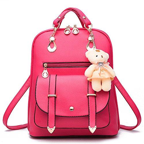 Red cuir Rose sac Sac bandoulière M005 PU à Mode en voyage noir à sac de dos XwSW4q