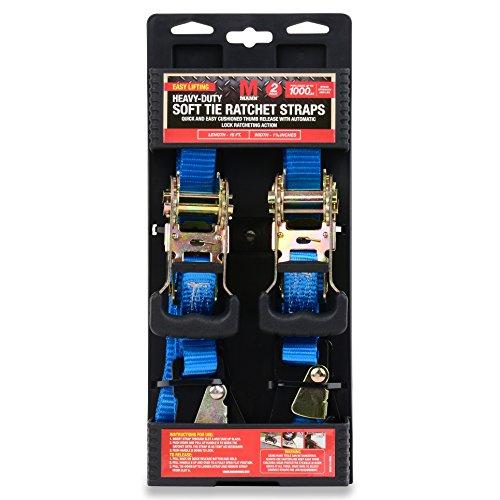 Mann-Heavy-Duty-Soft-Tie-Ratchet-Straps-with-Snap-Hook-2-Pack-Set-1-X-15-1000-Lbs-Load-Cap-3000-Lb-Break-Strength