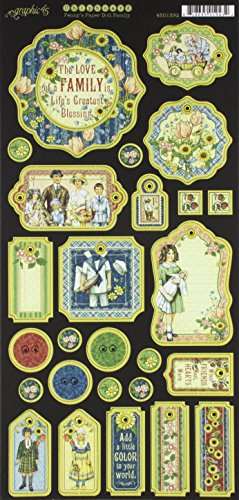 Graphic 45 Penny's Paper Doll Family Die-Cut Chipboard ()
