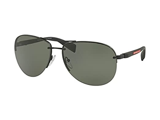 c4881dca105 Image Unavailable. Image not available for. Color  Prada Linea Rossa Men s  PS 56MS Sunglasses 62mm