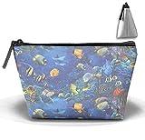 Best Fishes Various sizes Lipsticks - jiajufushi Aqua Sea Fish Trapezoidal Storage Bag Double Review