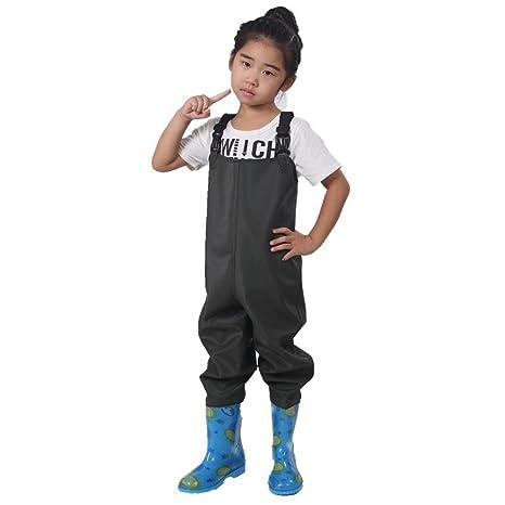 BYM 子供チェストラジアルウェダー チェストハイウェダー防水釣り用スーツ防水ズボン防水長靴川海浅瀬の画像