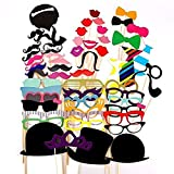 58 Pieces Party Photo Panel Photo Booth Props Set Photo Prop Of Photo ...