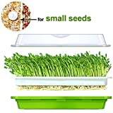 plant tray cover - Seed Sprouter Tray BPA Free PP Healthy Alfalfa Wheatgrass seeds Grower With Cover,2 Size Small Holes Grid