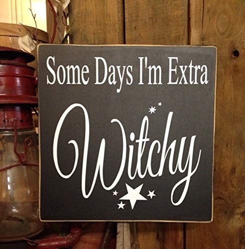 Iliogine Wooden Sign for Home Decor Witch Decor Halloween Decor Halloween Sign Kitchen Witch Cute Halloween Decor Resting Witch Face Halloween Craft for Bedroom