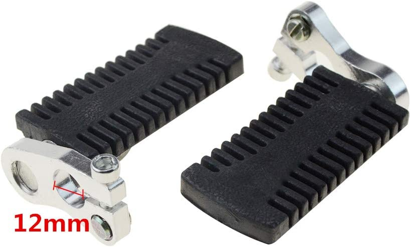 WOOSTAR 12mm Foot Pegs Pedals for 43cc 47cc 49cc Mini Pocket Bike Pit Bike
