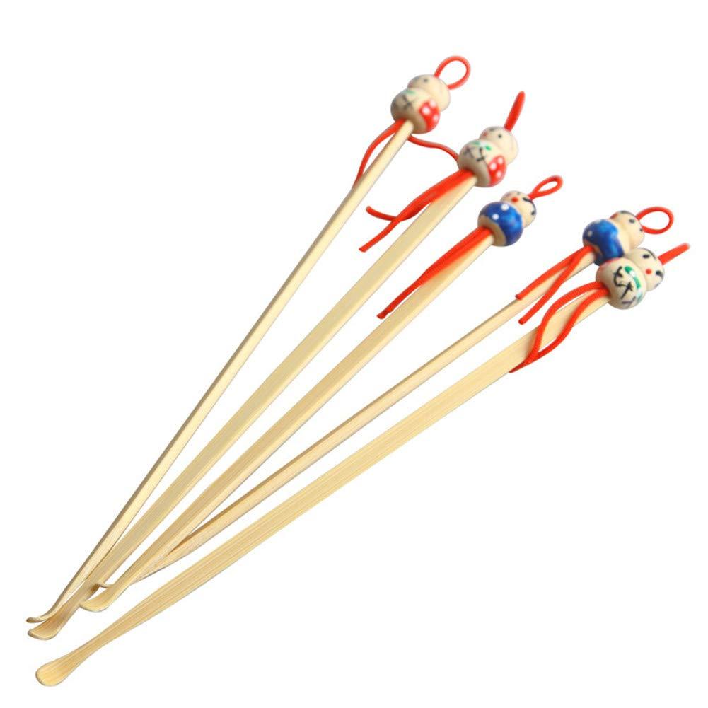 housesweet 10 piezas hechas a mano oreja de bambú limpio hermosa muñeca cabeza Decor limpiador de madera