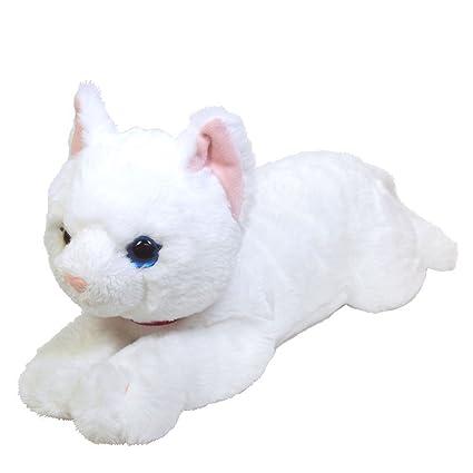 Amazon Com Sun Lemon Hizaneko Cat Plush On Lap Real Feeling Size M