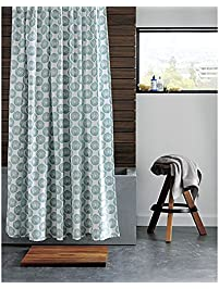 CB2 Swirl Shower Curtain 100 Percent Cotton Modern Printed Shower Curtains  72 Inch By