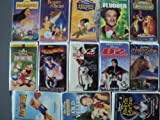 Disney 13 Pack VHS Movies, Walt Disney: Pocahontas - Masterpiece, Beauty and the Beast Classics) , Hunchback of Notre Dame, Flubber, Lady and the Tramp- Masterpiece Collection, Fun and Fancy Free- Fully Restored-Limited Edition, A Kid in King Arthur's Court, 102 Salmatians, The Mighty Duck D@, Dinosaur Masterpiece, Air Bud, Old Yeller- Vault collection, My favorite Martian